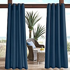 Image Of Madison Park Pacifica Solid 3M Scotchgard Grommet Top Outdoor  Curtain Panel