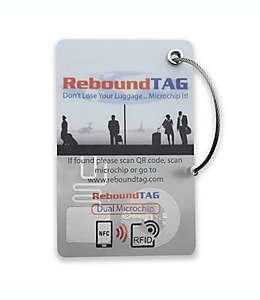 Etiqueta de PVC para equipaje con microchip ReboundTAG color blanco