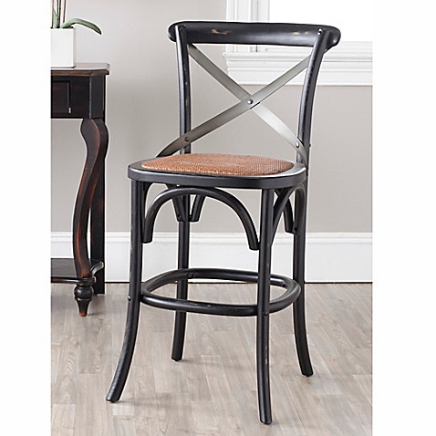 Buy Safavieh Eleanor X Back Counter Stool In Oak From Bed
