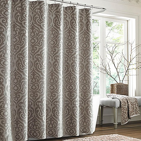 J Queen New York Sicily Pearl Shower Curtain In Pearl Bed Bath Beyond