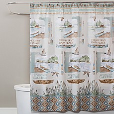Image Of Saturday Knight Lake House Shower Curtain