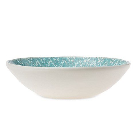 viva by vietri lace medium serving bowl in aqua bed bath. Black Bedroom Furniture Sets. Home Design Ideas