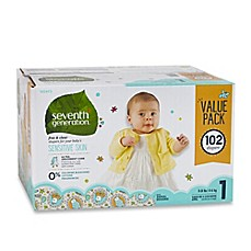 image of Seventh Generation™ 102-Count Size 1 Free & Clear Diapers