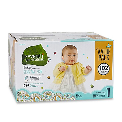 Seventh Generation™ 102-Count Size 1 Free & Clear Diapers