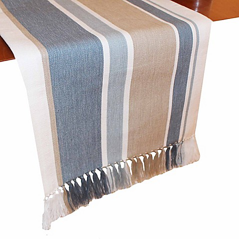 Buy park b smith julian stripe 90 inch table runner in for Table runners 52 inches