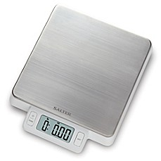 image of Salter® High Precision Stainless Steel Digital Kitchen Food Scale in White