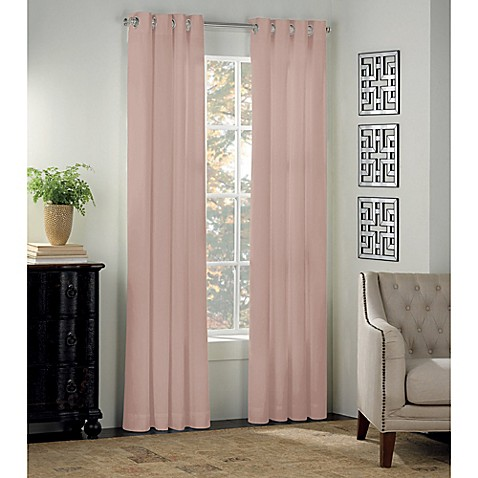 image of Newport Grommet Window Curtain Panel and Valance