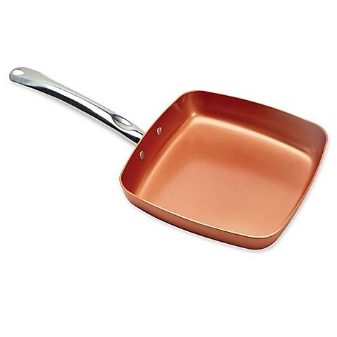 New Copper Chef 11 Inch Square Nonstick Fry Pan Ceramic
