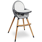 image of Skip Hop® Tuo Convertible High Chair in Charcoal Grey