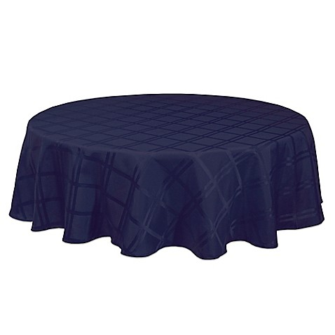 Buy Origins Microfiber 60 Inch Round Tablecloth In Ink