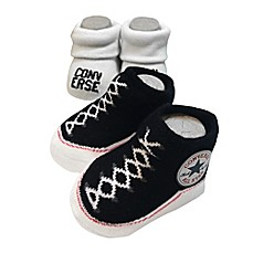 image of Converse Size 0-6M 2-Pack Booties in Black