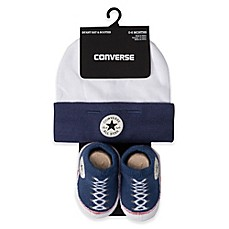 image of Converse Hat and Bootie Set in Navy