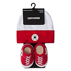 image of Converse Hat and Bootie Set in Red