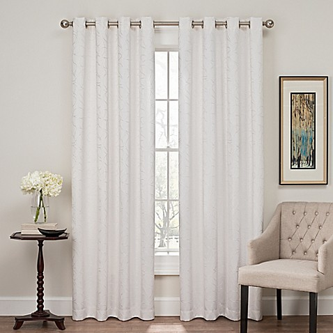 buy profile 108 inch grommet top window curtain panel in white from bed bath beyond. Black Bedroom Furniture Sets. Home Design Ideas