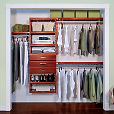 Image Of John Louis Home Premier Closet Organizer With 3 Drawers