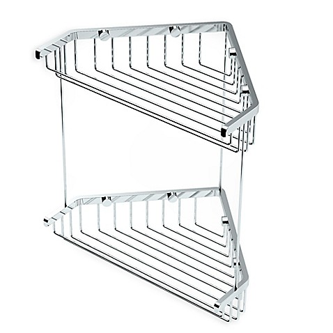 Gatco 10 Inch Shower Corner Basket In Chrome