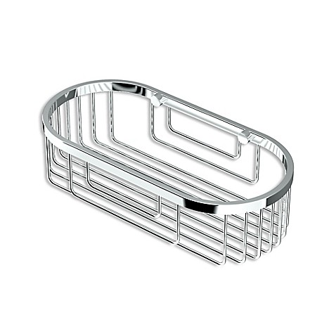 Gatco 9.75 Inch Oval Shower Corner Basket