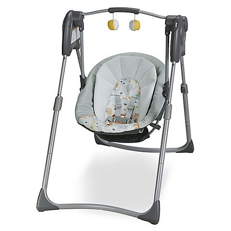 Graco slim spaces compact swing in linus buybuy baby - Best baby swings for small spaces image ...