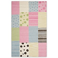 Image Of Safavieh Kids® Dots Stripes And Patches Rug In Blue/Pink