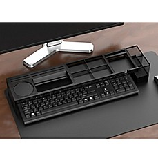 image of Mind Reader Axel Desk Organizer with Charging Station in Black
