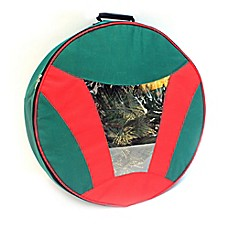 Image Of Camerons 24 Inch Artificial Christmas Wreath Storage Bag In Red