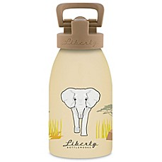 image of Liberty Bottleworks Safari 12 oz. Aluminum Elephant Water Bottle in Light Tan