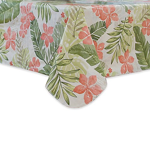 Tropics Vinyl Tablecloth Bed Bath Amp Beyond