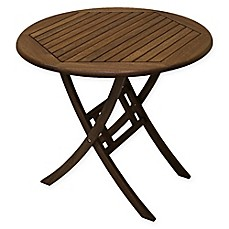 image of Outdoor Interiors® Eucalyptus 30-Inch Outdoor Bistro Table in Brown Umber