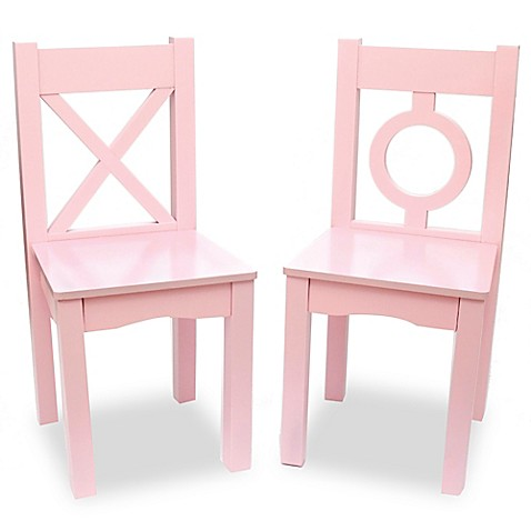 Lipper kids chairs in pink set of 2 buybuy baby for Kids pink armchair