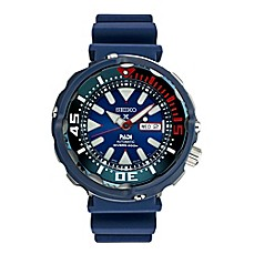 image of Seiko Prospex Men's 50mm PADI™ Special Edition Diver Watch in Stainless Steel w/Silicone Strap