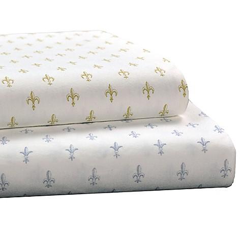 Brielle fashion fleur de lis cotton jersey sheet set bed bath beyond - Fleur de lis bed sheets ...