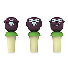 image of Alessi Banana Kids Wine Stoppers (Set of 3)