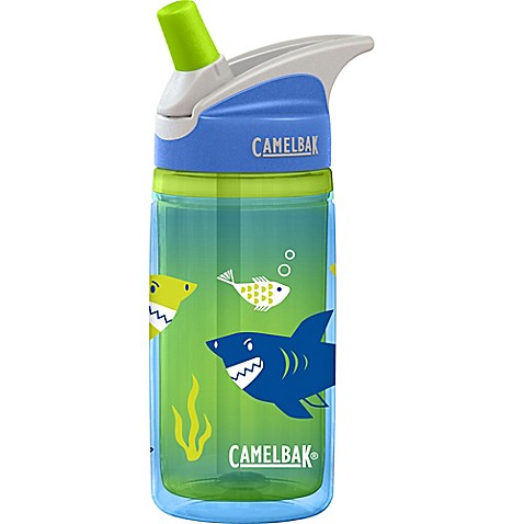 camelbak kids 39 eddy 0 4 liter sharks water bottle in green bed bath beyond. Black Bedroom Furniture Sets. Home Design Ideas