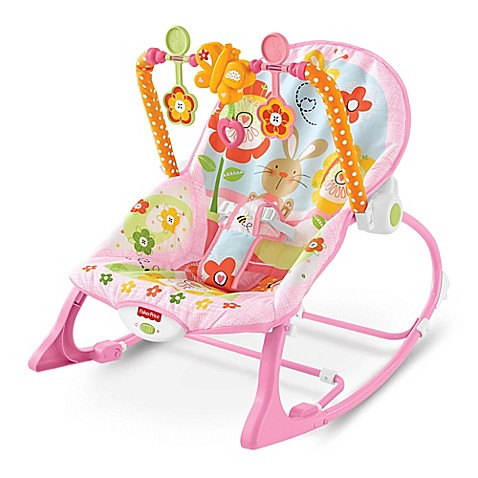 Fisher Priceu0026reg; Pink Bunny Infant To Toddler Rocker