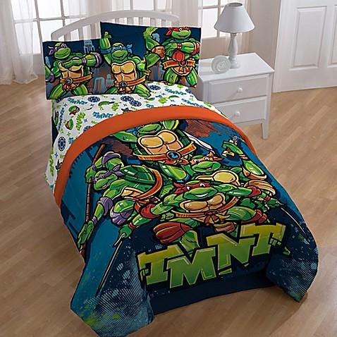 """Teenage Mutant Ninja Turtles """"Cityscape"""" Twin Full"""