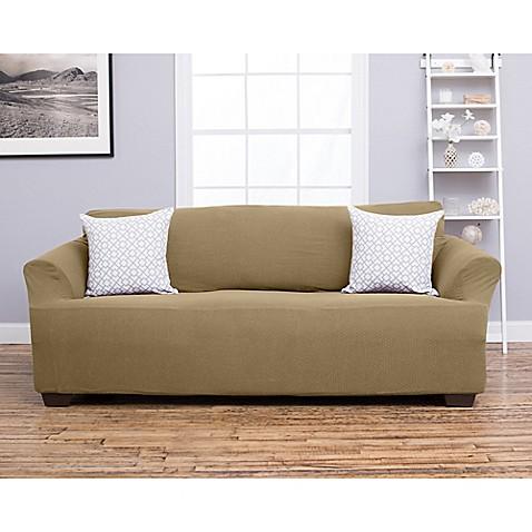 buy great bay home amilio strapless sofa slipcover in