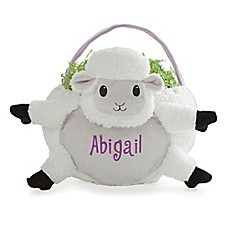 image of Lamb Easter Basket in White