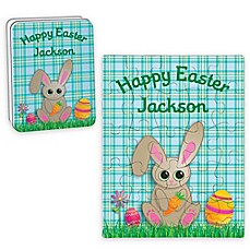 image of Bunny Happy Easter Puzzle and Tin in Blue