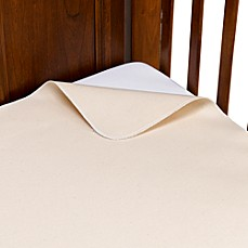 image of Naturepedic® Organic Cotton Waterproof Flat Crib Pad Cover