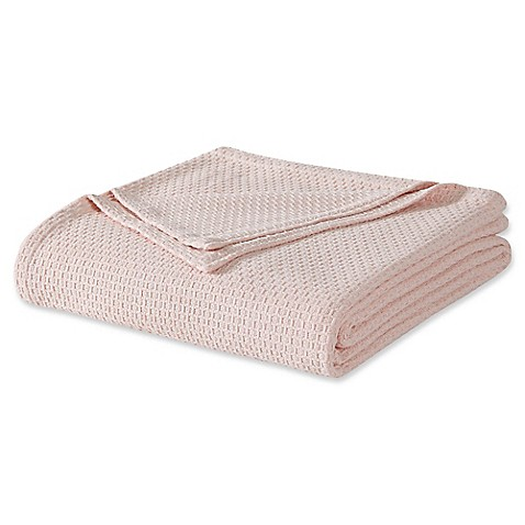Laura ashley cotton blanket bed bath beyond laura ashley twin cotton blanket in blush gumiabroncs Image collections