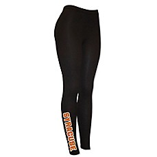 image of Syracuse University Fleece-Lined Leg-Logo Leggings in Black