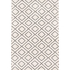 image of Frieze Shag Area Rug in Ivory