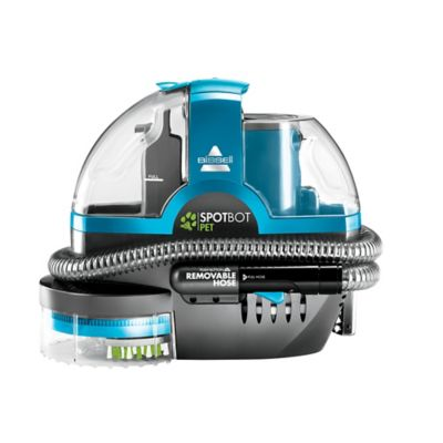 image of bissell spotbot pet deluxe portable carpet cleaner in disco teal - Bissell Spot Cleaner