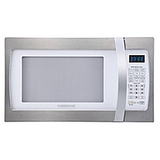 image of Farberware® 1.3 Cubic Feet Microwave Oven with Smart Sensor Cooking in Stainless Steel/Platinum