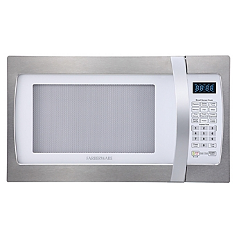 Image Of Farberware 1 3 Cubic Feet Microwave Oven With Smart Sensor Cooking In Stainless Steel