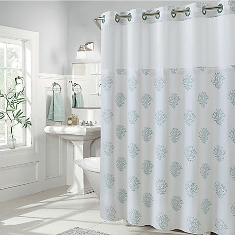 Hookless Coral Reef Shower Curtains - Bed Bath & Beyond
