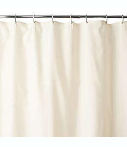 Forro de tela para cortina de baño con ventosas Wamsutta®, de 1.37 x 1.98 m en marfil