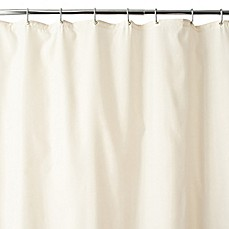 image of Wamsutta® Fabric Shower Curtain Liner with Suction Cups