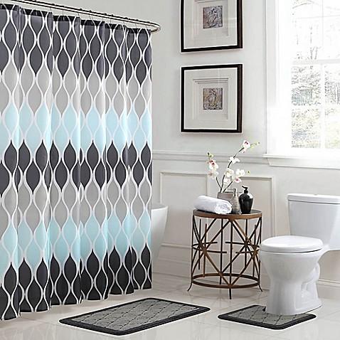 bed bath beyond bathroom sets. image of Clarisse 15 Piece Bath Bundle Set in Grey Blue Bathroom Collections  Bed Beyond