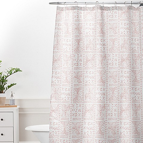 Buy Deny Designs Dash And Ash Rose Bud Mud Cloth Extra Long Shower Curtain In Pink From Bed Bath